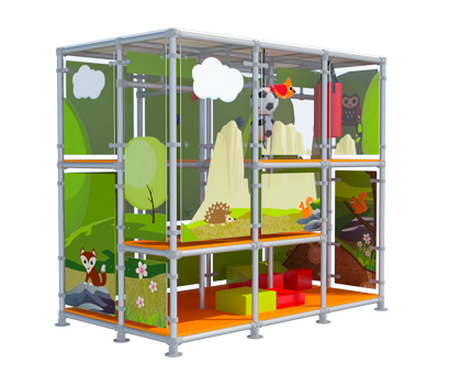 Modular play-structure indoor